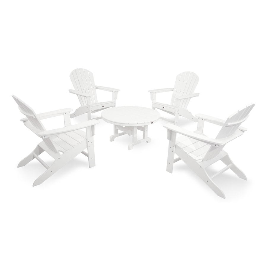 Trex Outdoor Furniture Cape Cod 5-Piece Plastic Patio Conversation Set