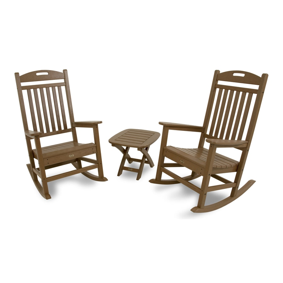 outdoor furniture yacht club 3 piece plastic patio conversation set