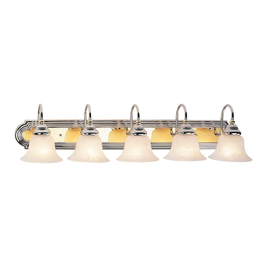 Livex Lighting Belmont 5-Light 8.5-in Chrome Bell Vanity Light