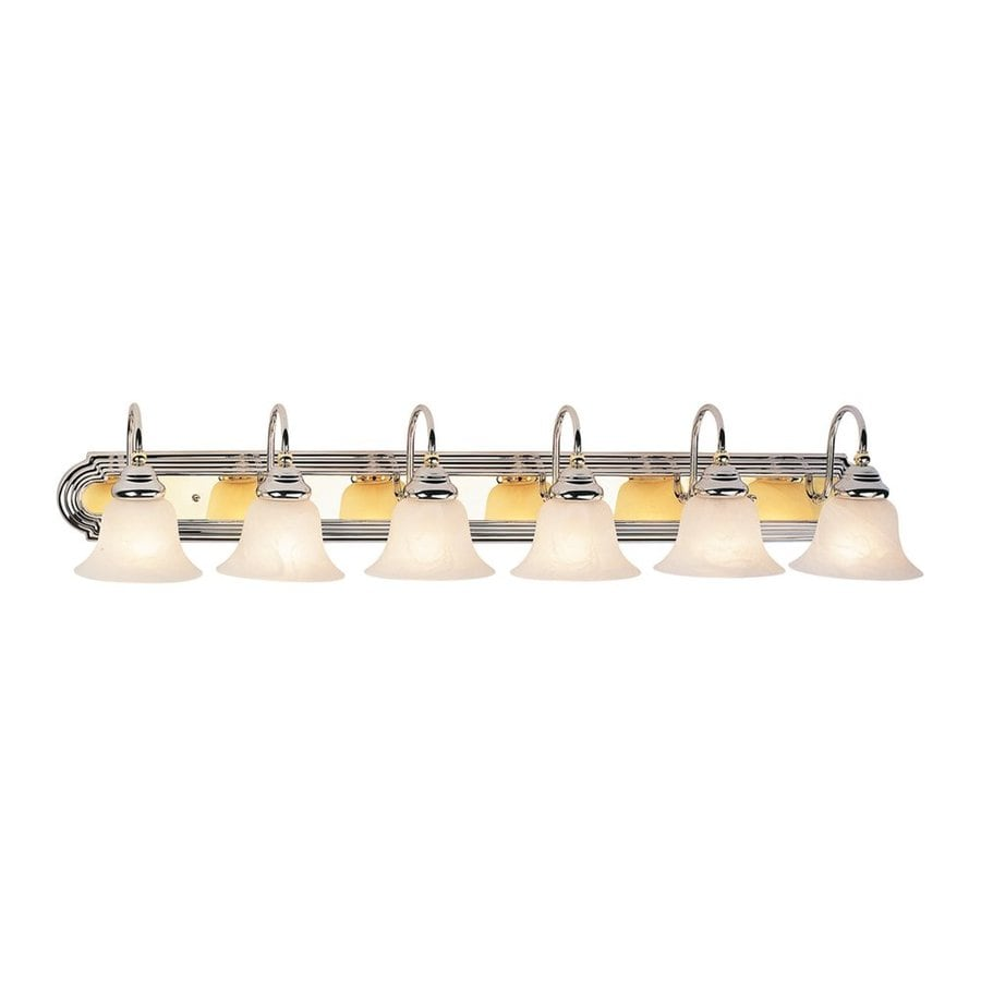 Livex Lighting Belmont 6-Light 8.5-in Polished brass/Chrome Bell Vanity Light