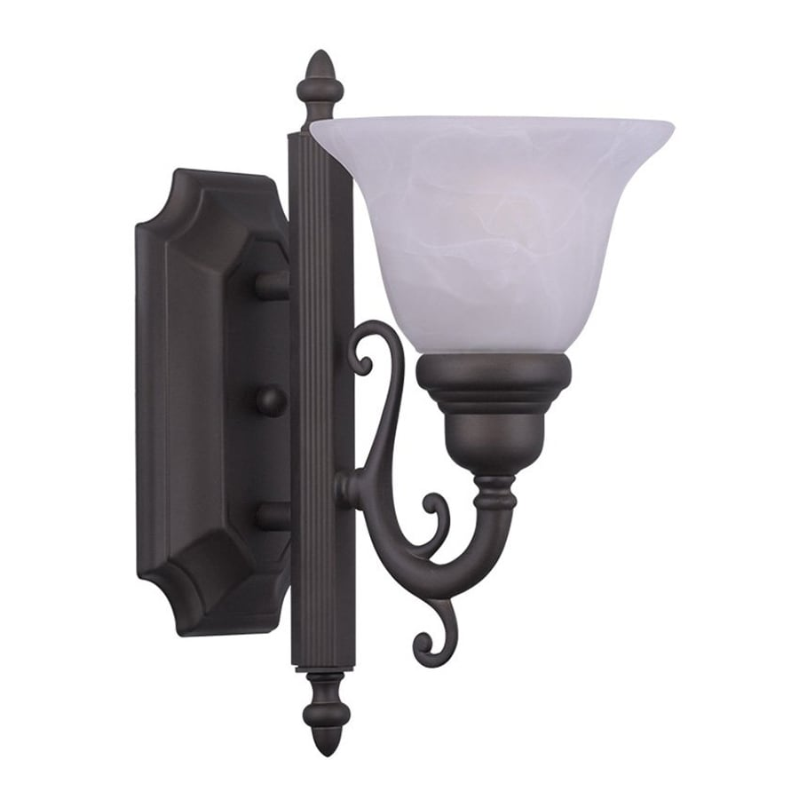 Livex Lighting French Regency 6-in W 1-Light Bronze Vintage Arm Wall Sconce
