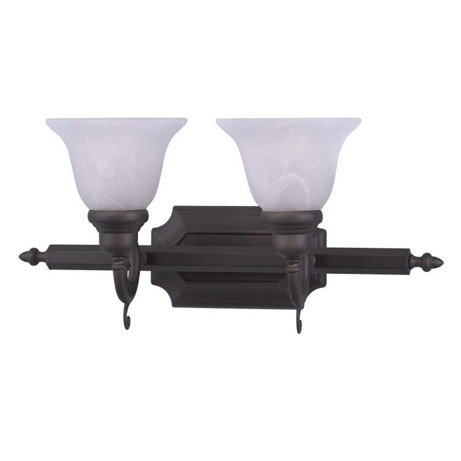 Livex Lighting French Regency 2-Light 9.25-in Bronze Bell Vanity Light