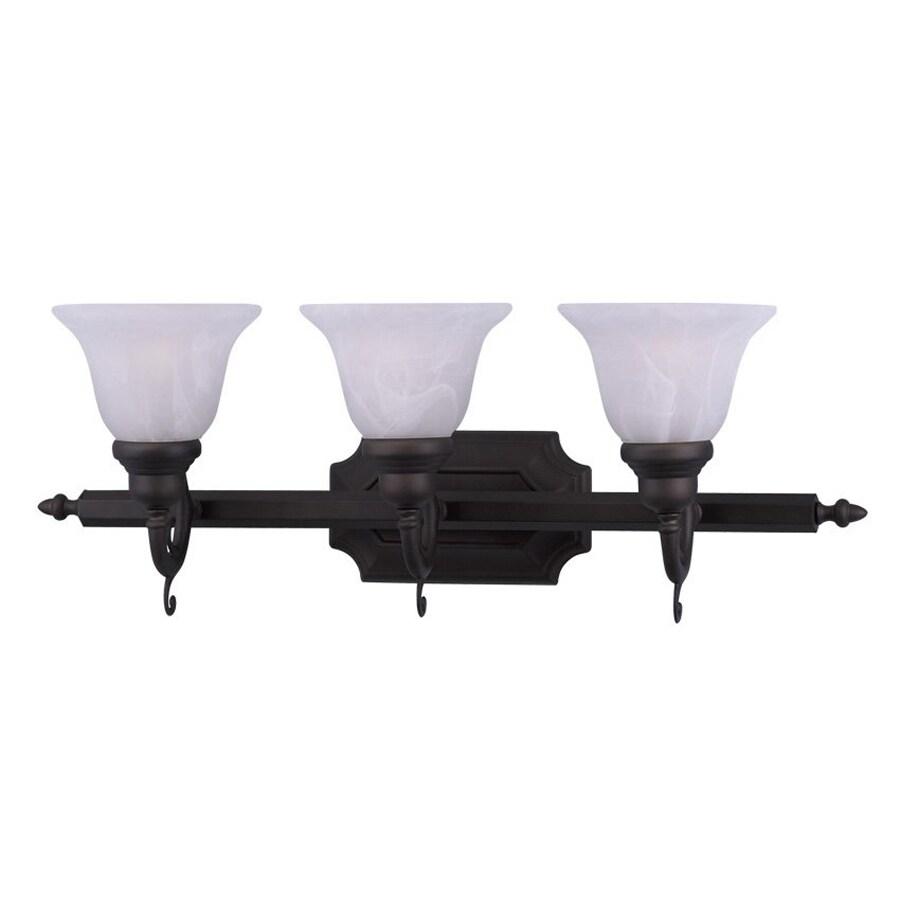Livex Lighting French Regency 3-Light 9.25-in Bronze Bell Vanity Light