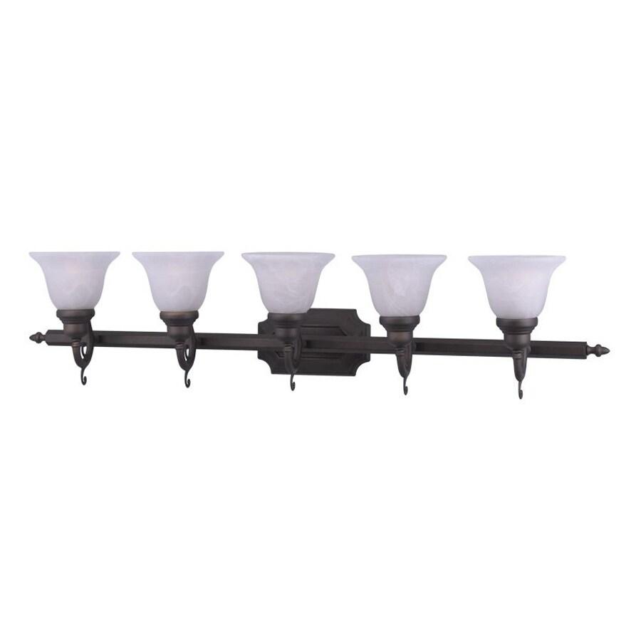 Livex Lighting French Regency 5-Light 9.25-in Bronze Bell Vanity Light