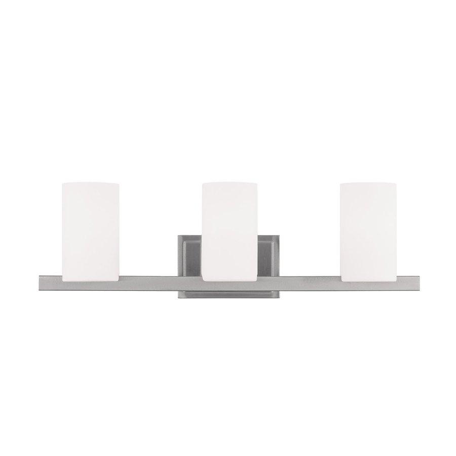 Livex Lighting Astoria 3-Light 7.5-in Brushed nickel Cylinder Vanity Light