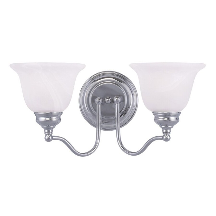Shop Livex Lighting Essex 15.25-in W 2-Light Chrome Arm Wall Sconce at Lowes.com