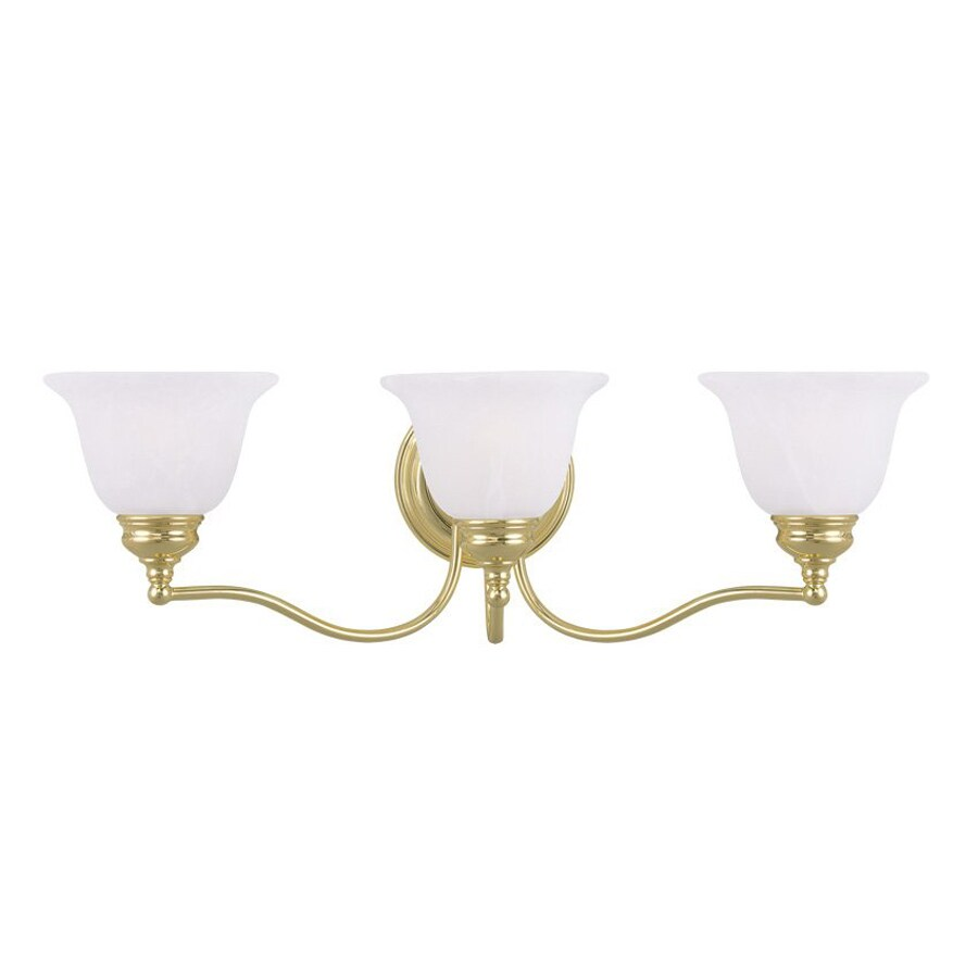 Livex Lighting Essex 24-in W 3-Light Polished Brass Arm Wall Sconce