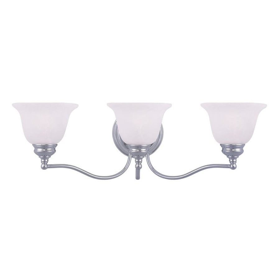 Livex Lighting Essex 24-in W 3-Light Chrome Arm Wall Sconce
