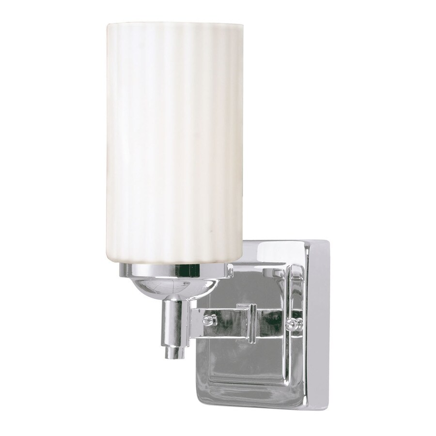 Livex Lighting Madison 1-Light 9.75-in Chrome Cylinder Vanity Light