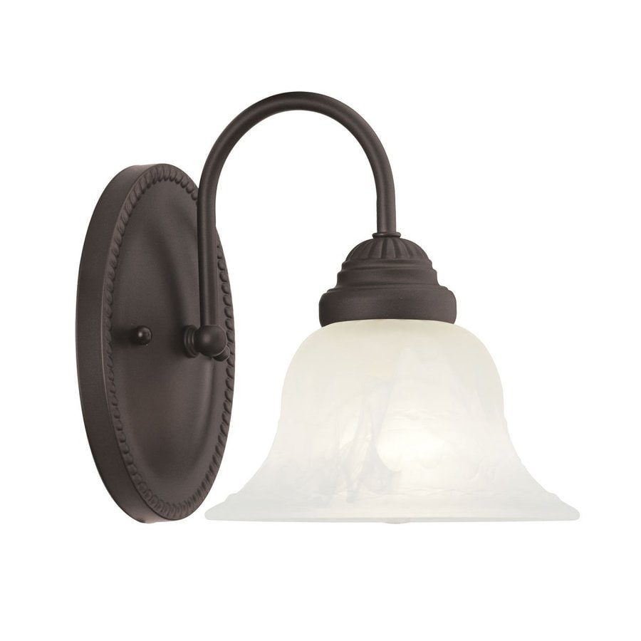 Livex Lighting Edgemont 7-in W 1-Light Bronze Arm Wall Sconce