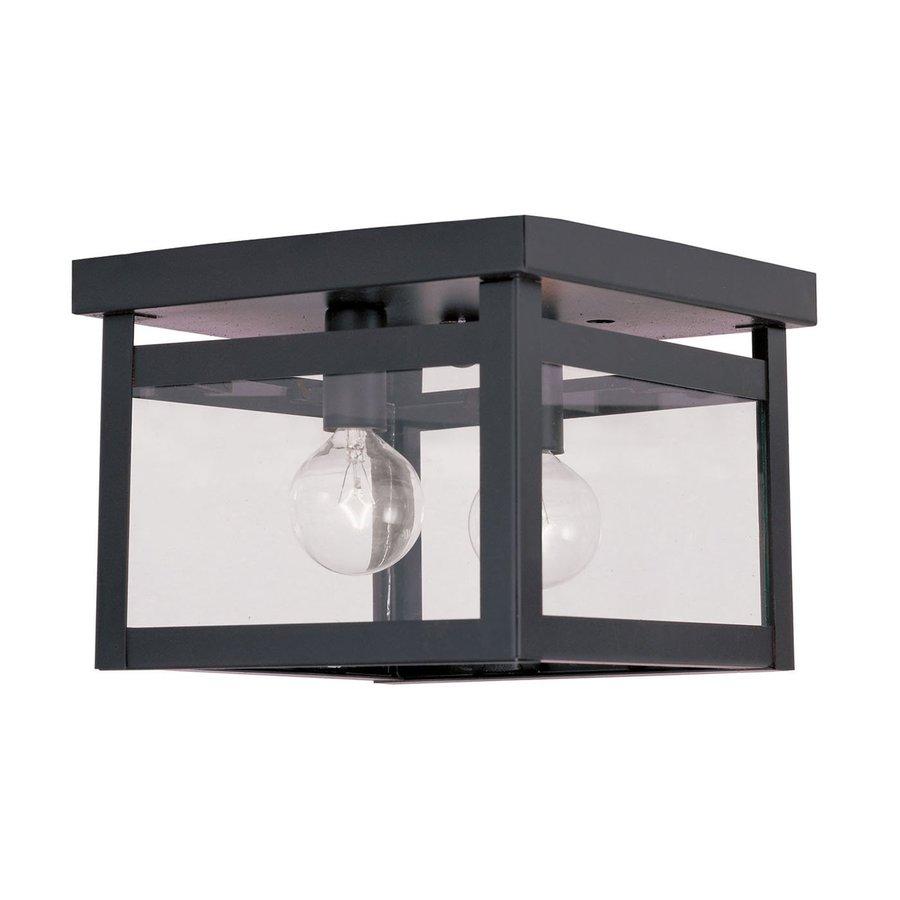 Livex Lighting Milford 8-in W Bronze Flush Mount Light