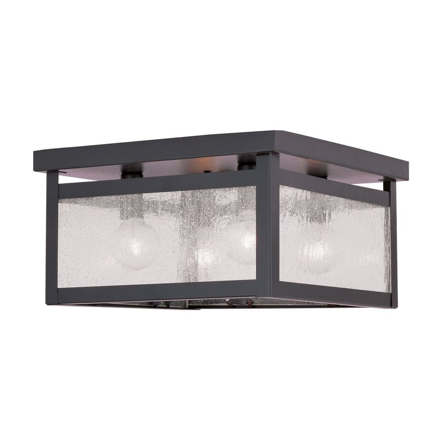 Livex Lighting Milford 11-in W Bronze Ceiling Flush Mount Light