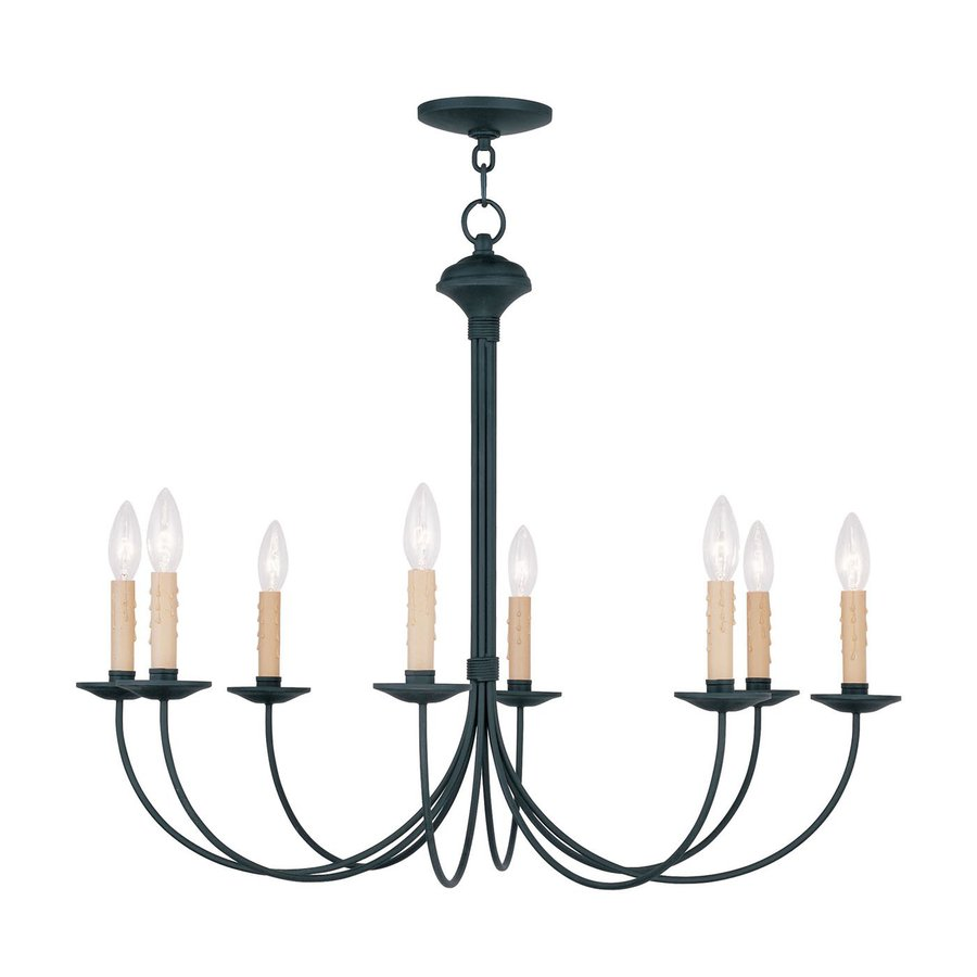 Black Candle Ceiling Lights : Livex lighting heritage in light black candle