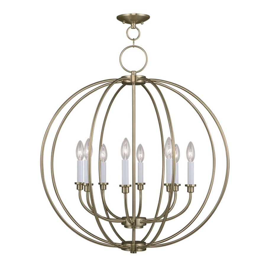 Shop Livex Lighting Milania 28 In 8 Light Antique Brass