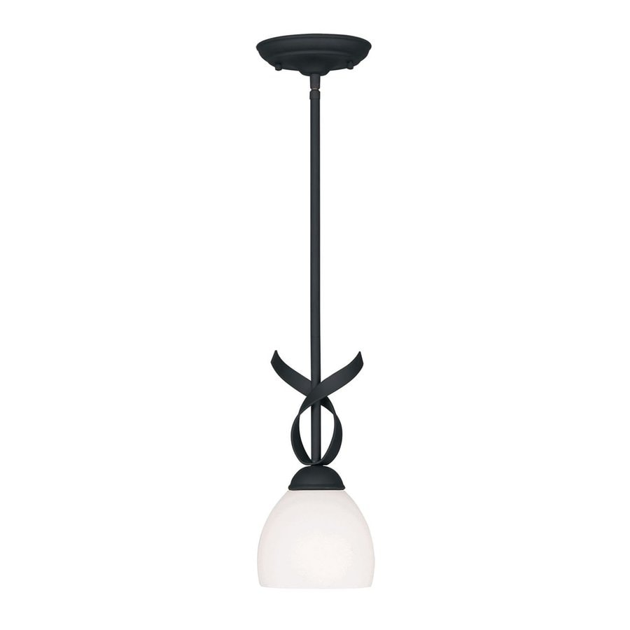Livex Lighting Brookside 6-in Black Mini Bell Pendant