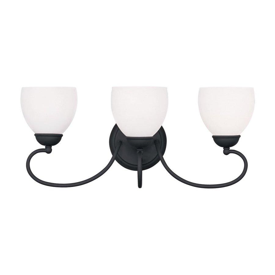 Livex Lighting Brookside 3-Light 9.75-in Black Bell Vanity Light