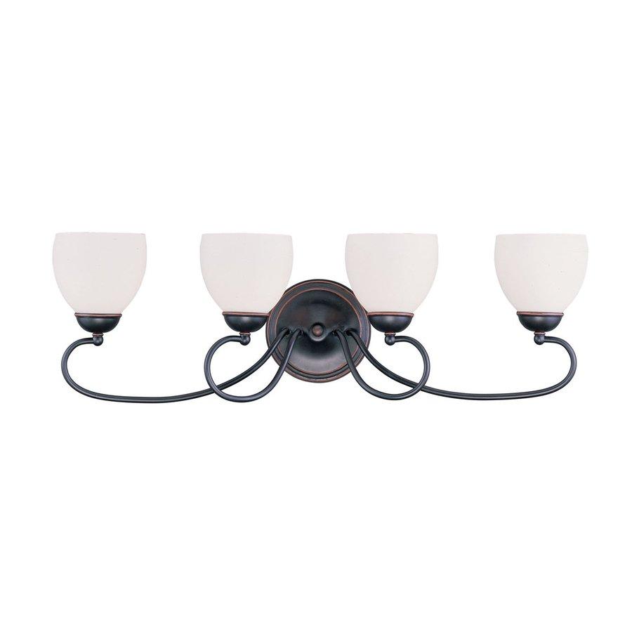 Livex Lighting Brookside 4-Light 9.75-in Olde bronze Bell Vanity Light