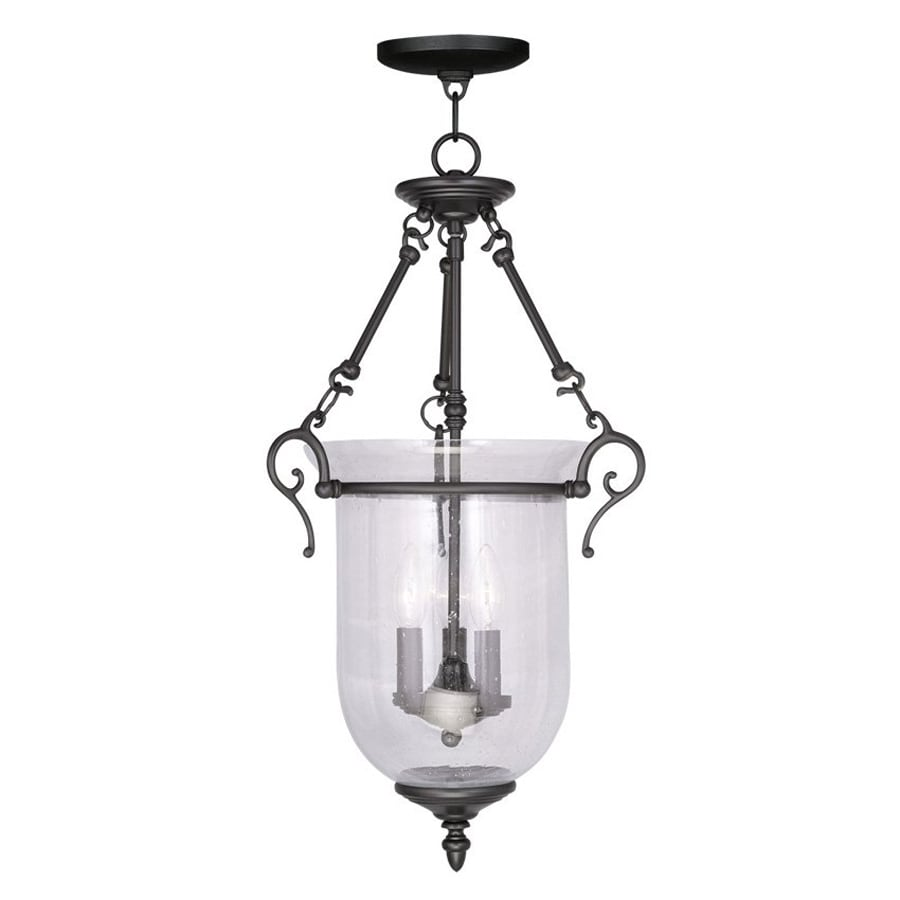 Livex Lighting Legacy 14.5-in Black Vintage Single Seeded Glass Urn Pendant  sc 1 st  Loweu0027s & Shop Livex Lighting Legacy 14.5-in Black Vintage Single Seeded ... azcodes.com