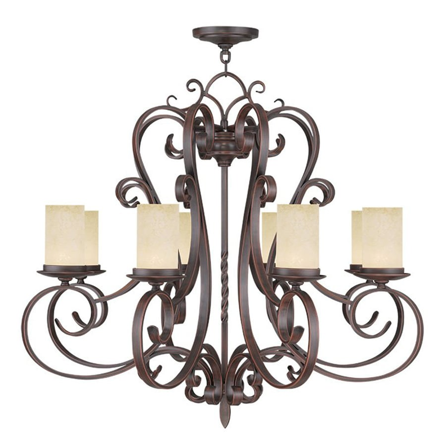 Livex Lighting Millburn Manor 35.5-in 8-Light Imperial bronze Mediterranean Candle Chandelier