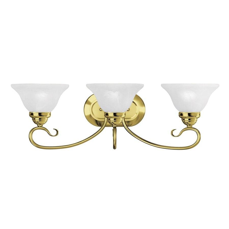 Livex Lighting Coronado 3-Light 8.5-in Polished brass Bell Vanity Light