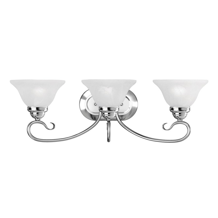 Livex Lighting Coronado 3-Light 8.5-in Chrome Bell Vanity Light