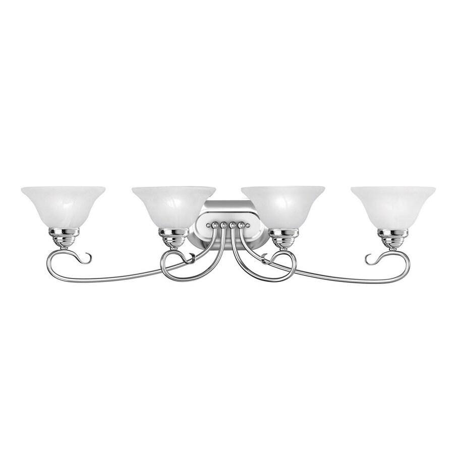 Livex Lighting Coronado 4-Light 8.5-in Chrome Bell Vanity Light