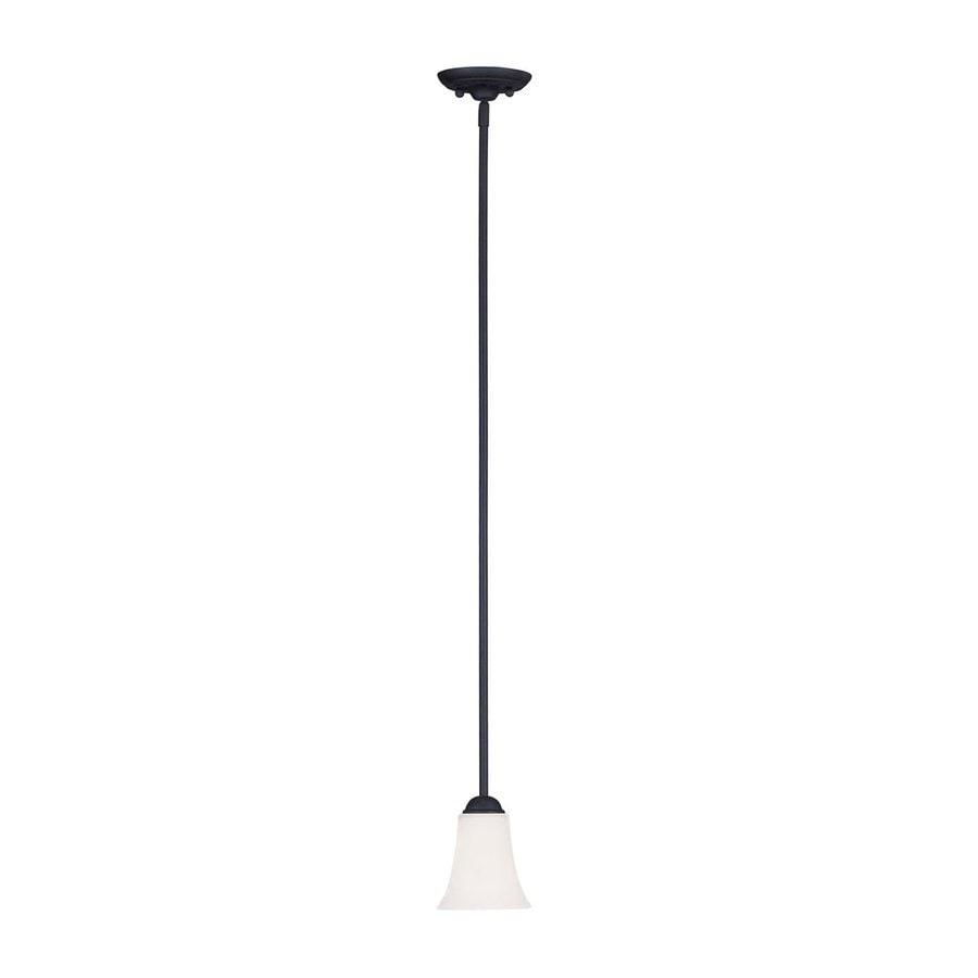 Livex Lighting Ridgedale 5.5-in Black Mini Bell Pendant