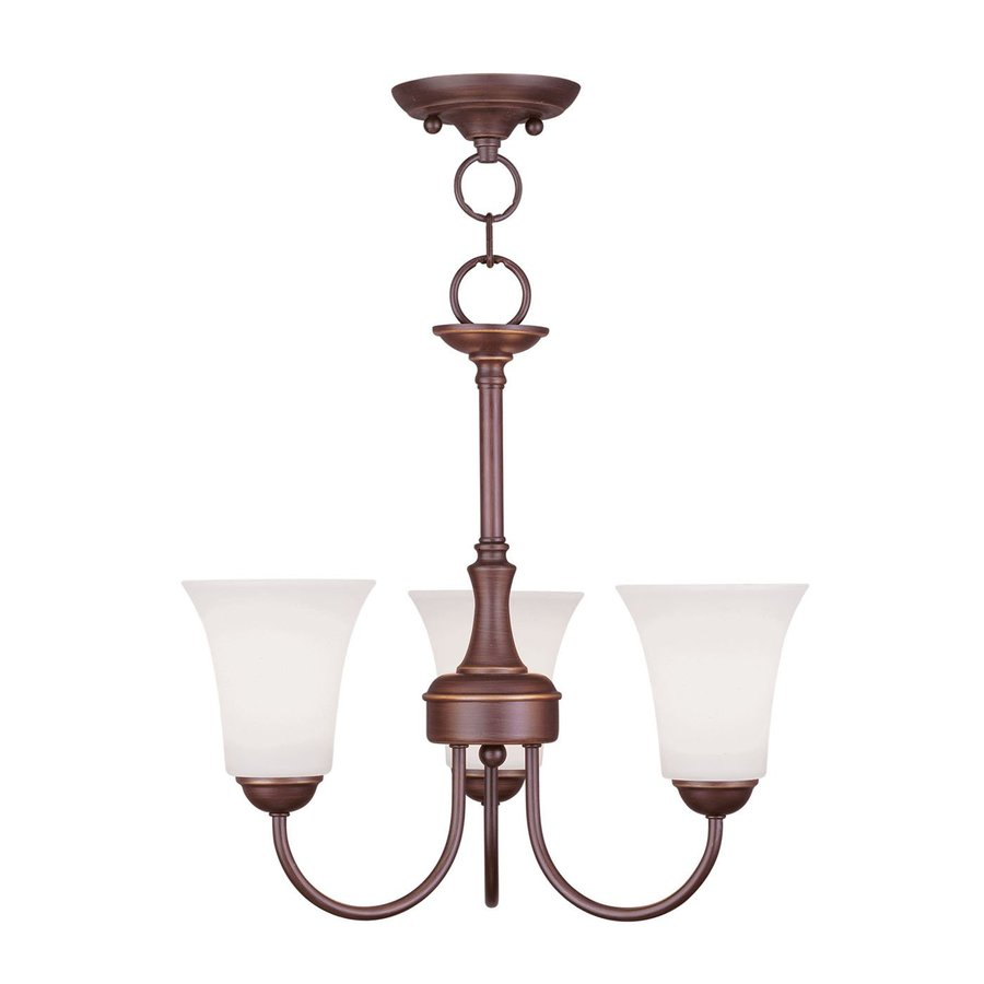 Livex Lighting Ridgedale 18-in 3-Light Vintage Bronze Shaded Chandelier