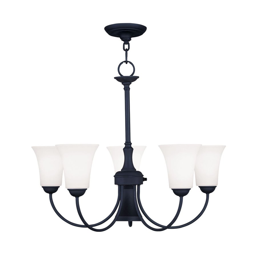 Livex Lighting Ridgedale 25.5-in 6-Light Black Shaded Chandelier