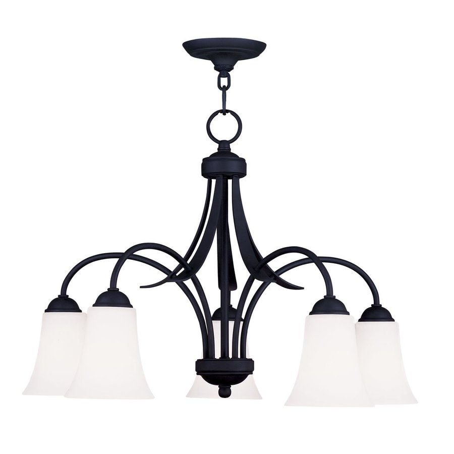 Livex Lighting Ridgedale 25.5-in 5-Light Black Shaded Chandelier