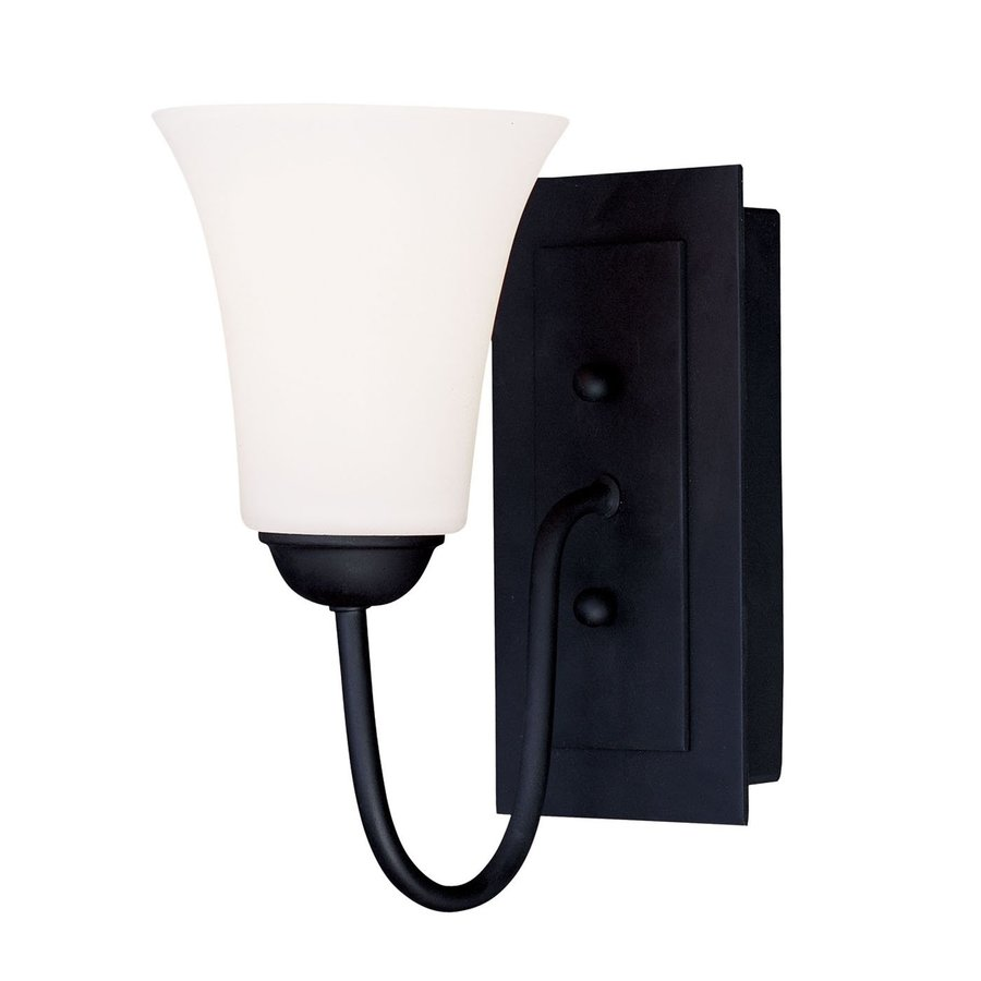 Livex Lighting Ridgedale 5.5-in W 1-Light Black Arm Hardwired Wall Sconce