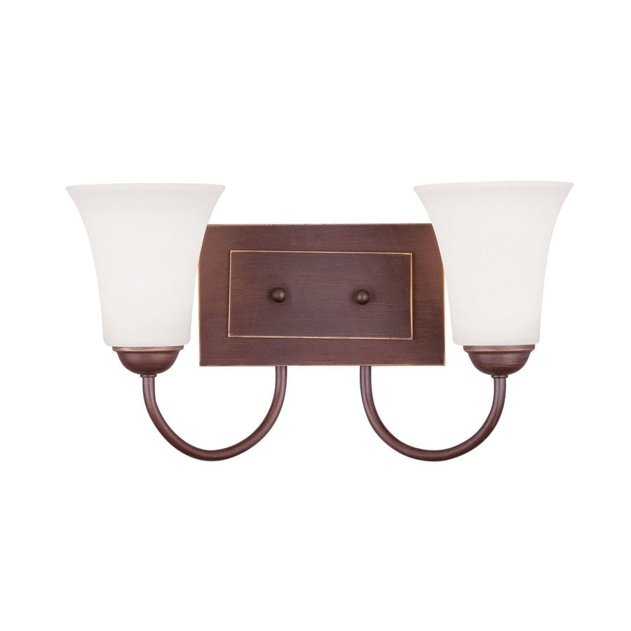 Livex Lighting Ridgedale 14.5-in W 2-Light Vintage Bronze Arm Wall Sconce