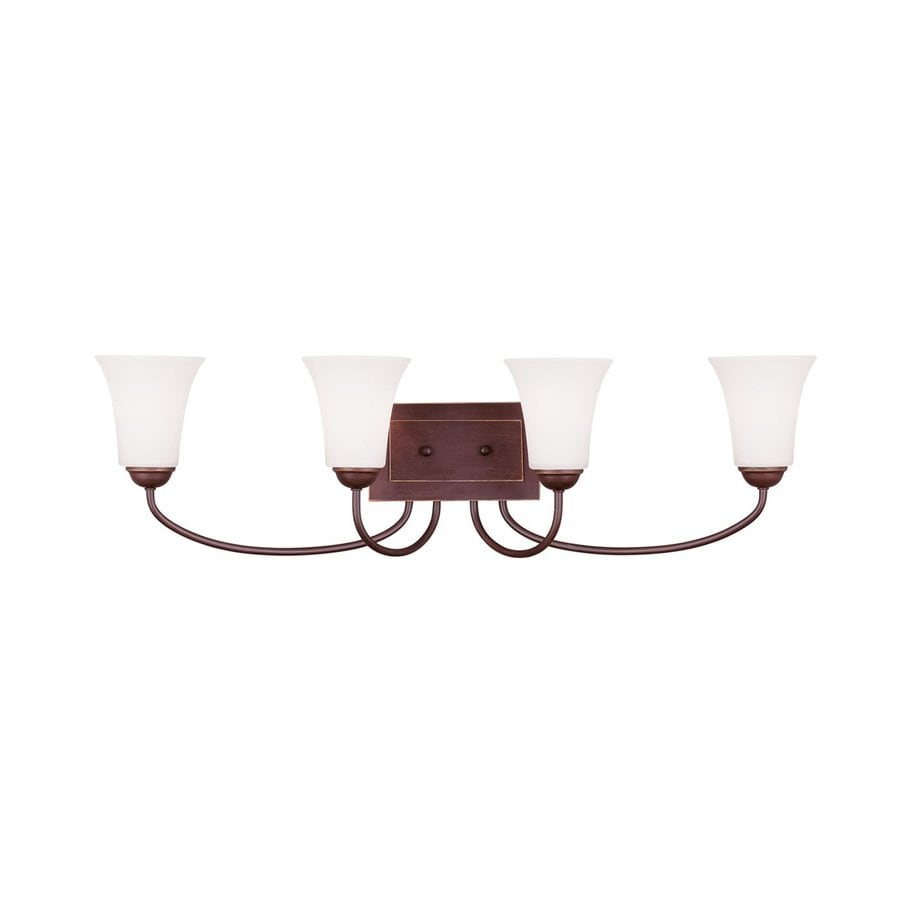 Livex Lighting Ridgedale 4-Light 9-in Vintage Bronze Bell Vanity Light