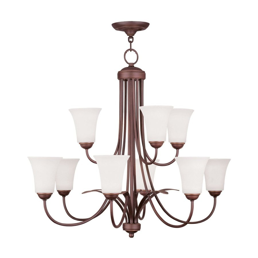 Livex Lighting Ridgedale 30-in 9-Light Vintage bronze Tiered Chandelier