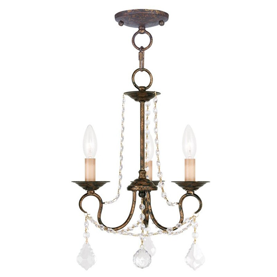 Venetian Bronze Chandelier: Shop Livex Lighting Pennington 13-in 3-Light Venetian