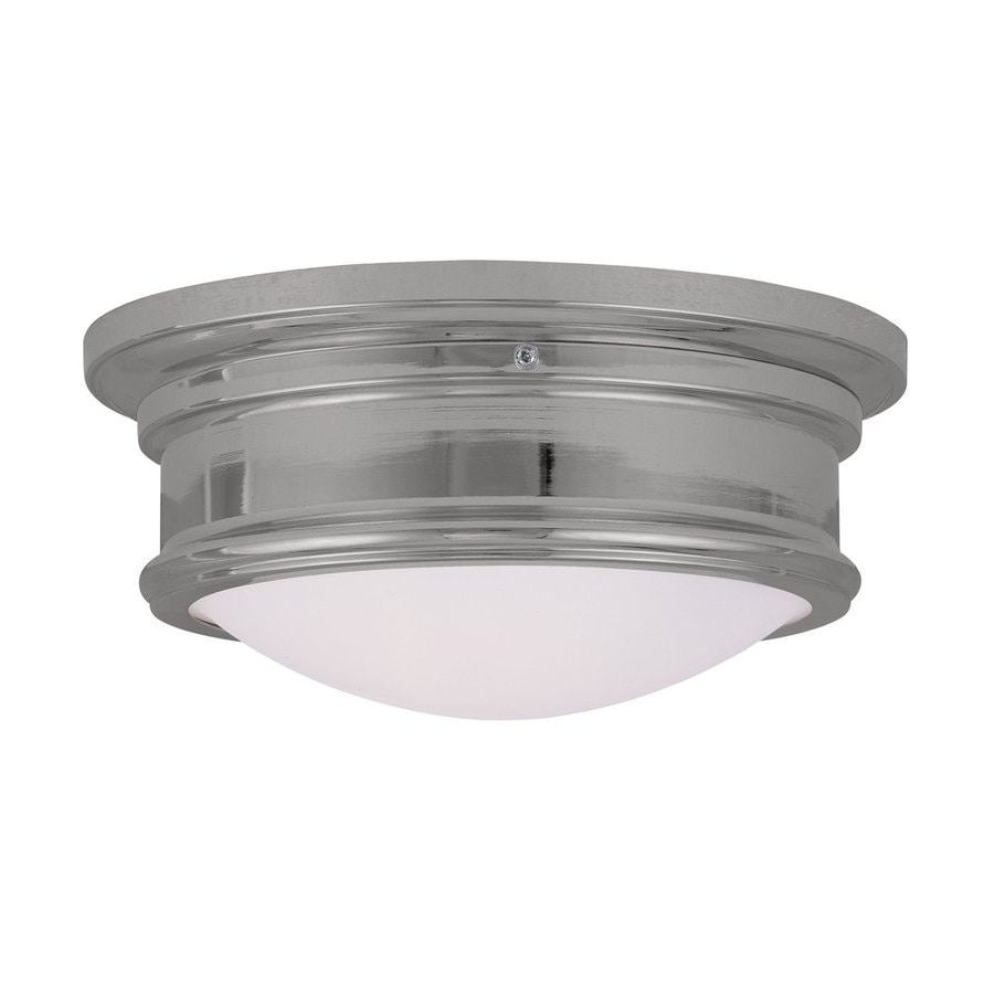 Livex Lighting Astor 11-in W Chrome Flush Mount Light