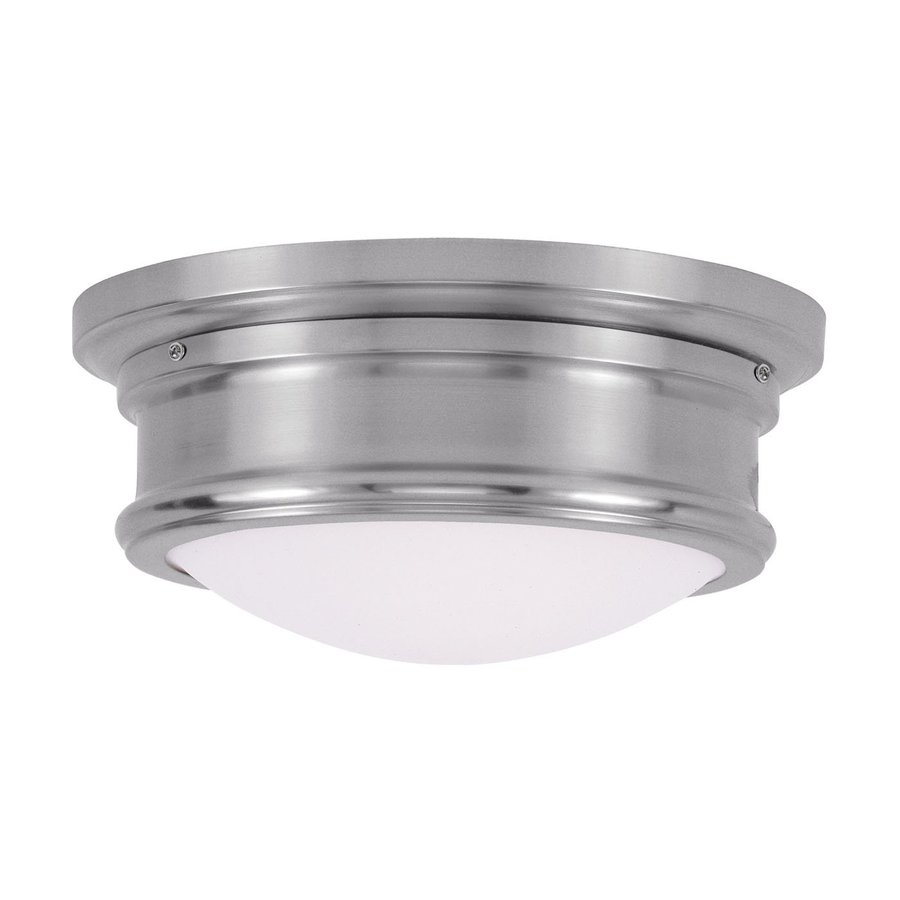 Livex Lighting Astor 11-in W Brushed nickel Flush Mount Light