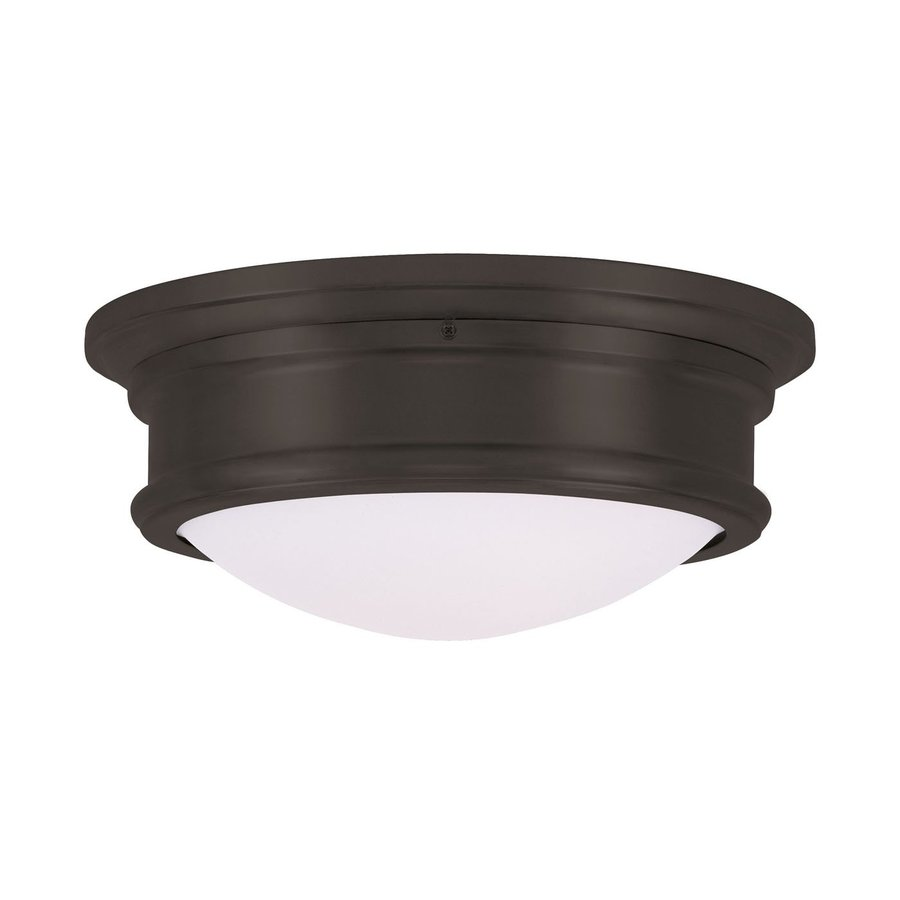 Livex Lighting Astor 13-in W Bronze Flush Mount Light