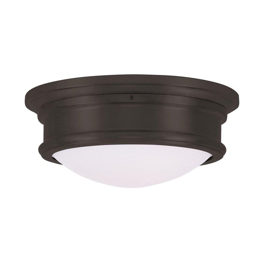 Livex Lighting Astor 13-in W Bronze Ceiling Flush Mount Light
