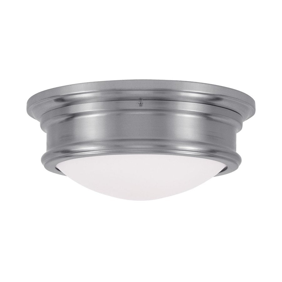 Livex Lighting Astor 13-in W Brushed Nickel Flush Mount Light