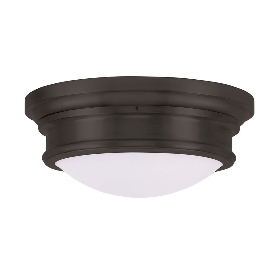 Livex Lighting Astor 15.5-in W Bronze Flush Mount Light