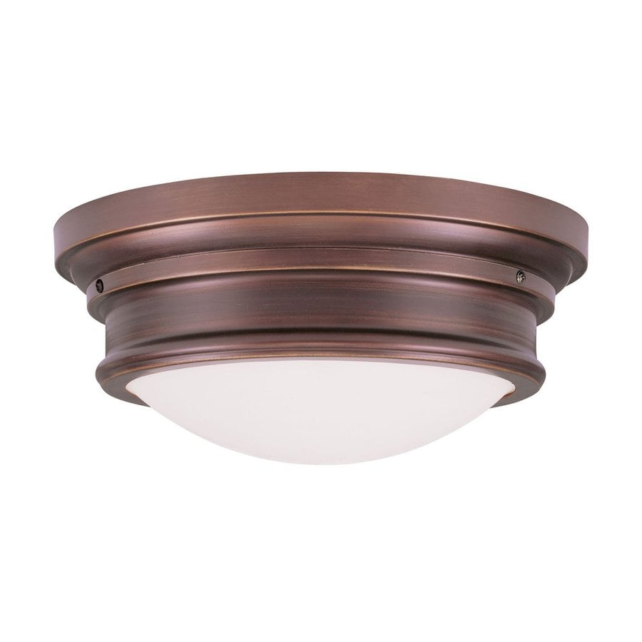 Livex Lighting Astor 15.5-in W Vintage Bronze Flush Mount Light