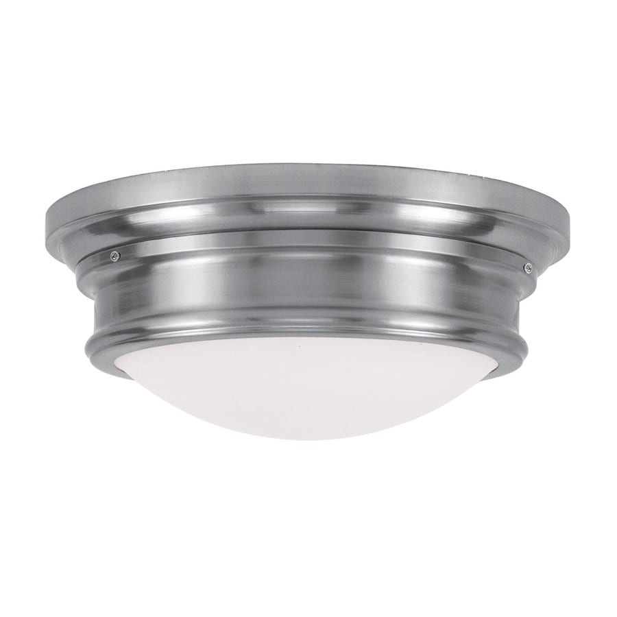 Livex Lighting Astor 15.5-in W Brushed Nickel Flush Mount Light
