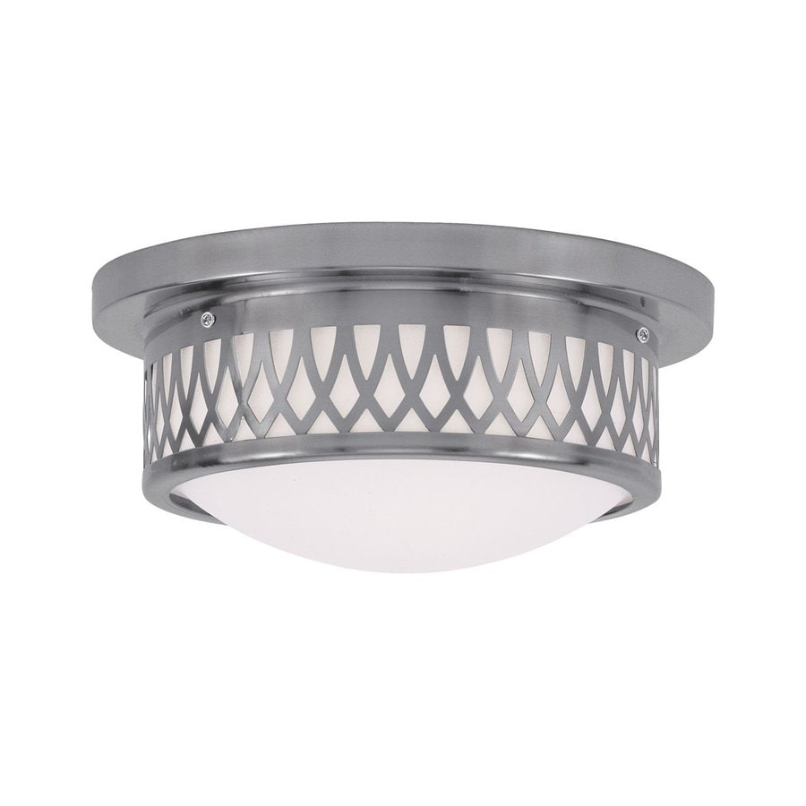 Livex Lighting Westfield 11-in W Brushed Nickel Flush Mount Light