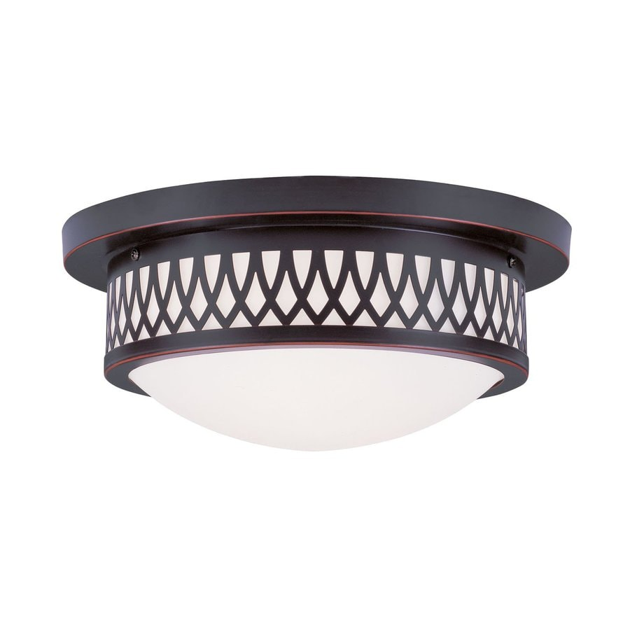 Livex Lighting Westfield 13-in W Olde Bronze Flush Mount Light
