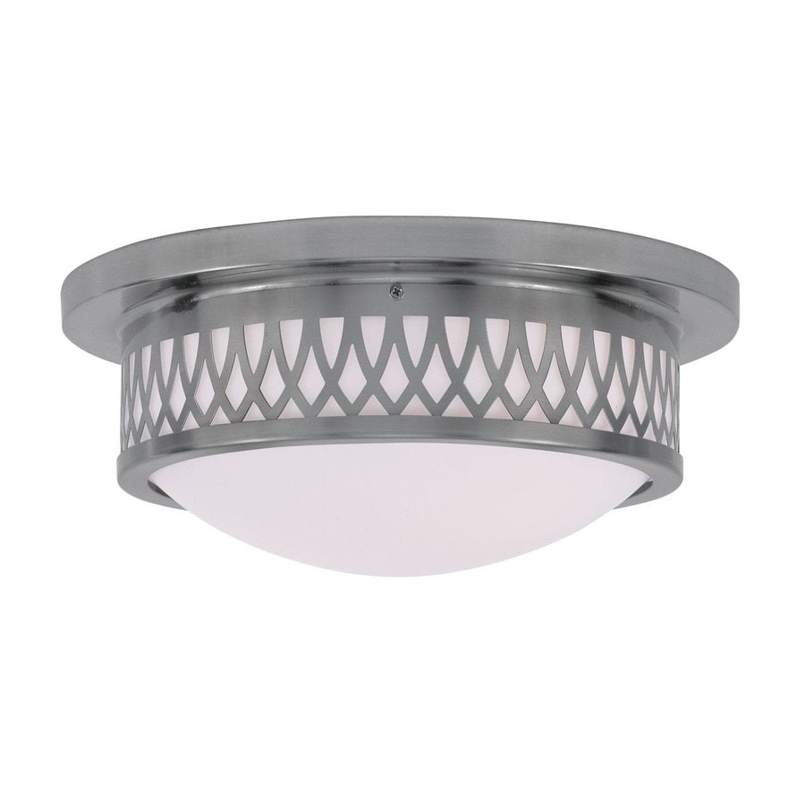 Livex Lighting Westfield 13-in W Brushed Nickel Flush Mount Light