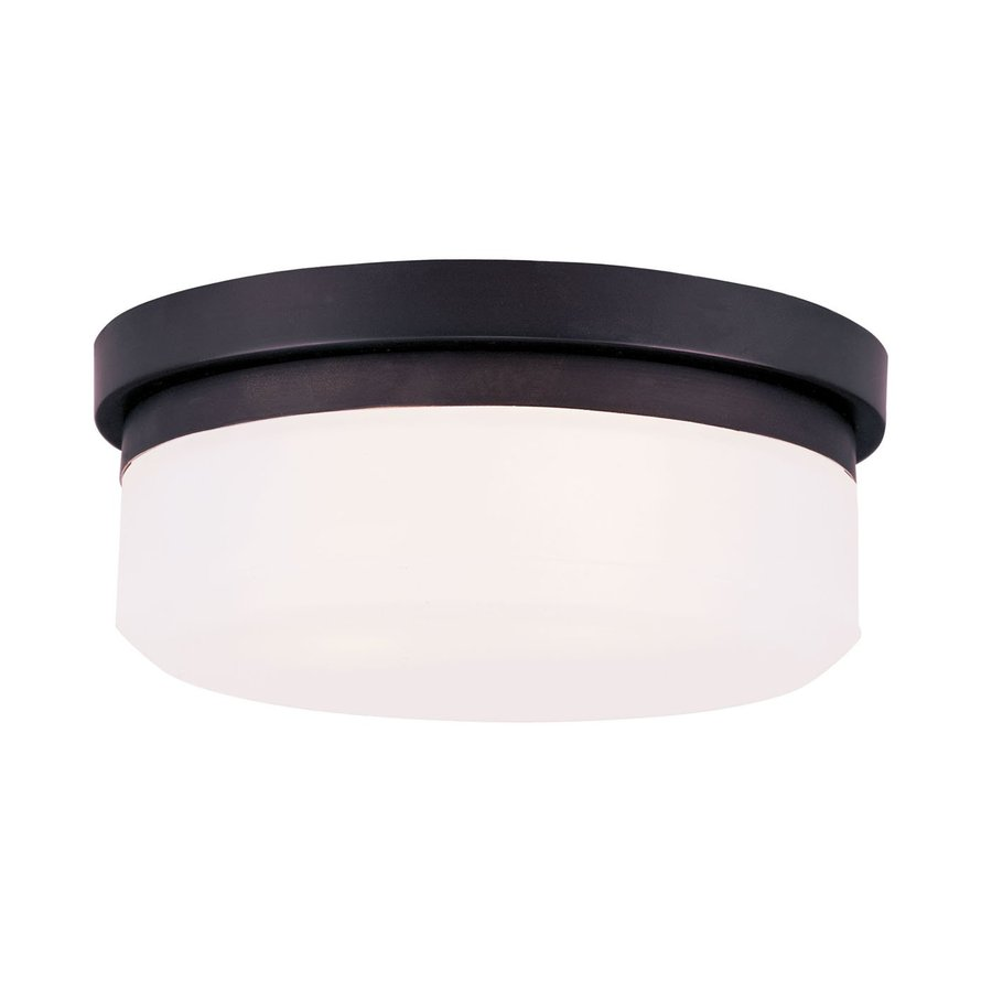 Livex Lighting Stratus 11-in W Bronze Flush Mount Light