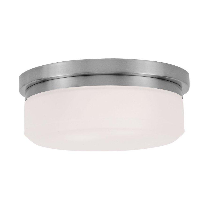 Livex Lighting Stratus 11-in W Brushed Nickel Flush Mount Light