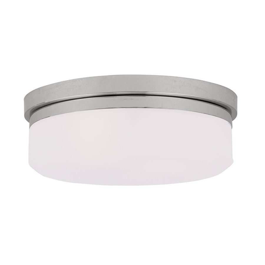 Livex Lighting Stratus 13-in W Chrome Flush Mount Light