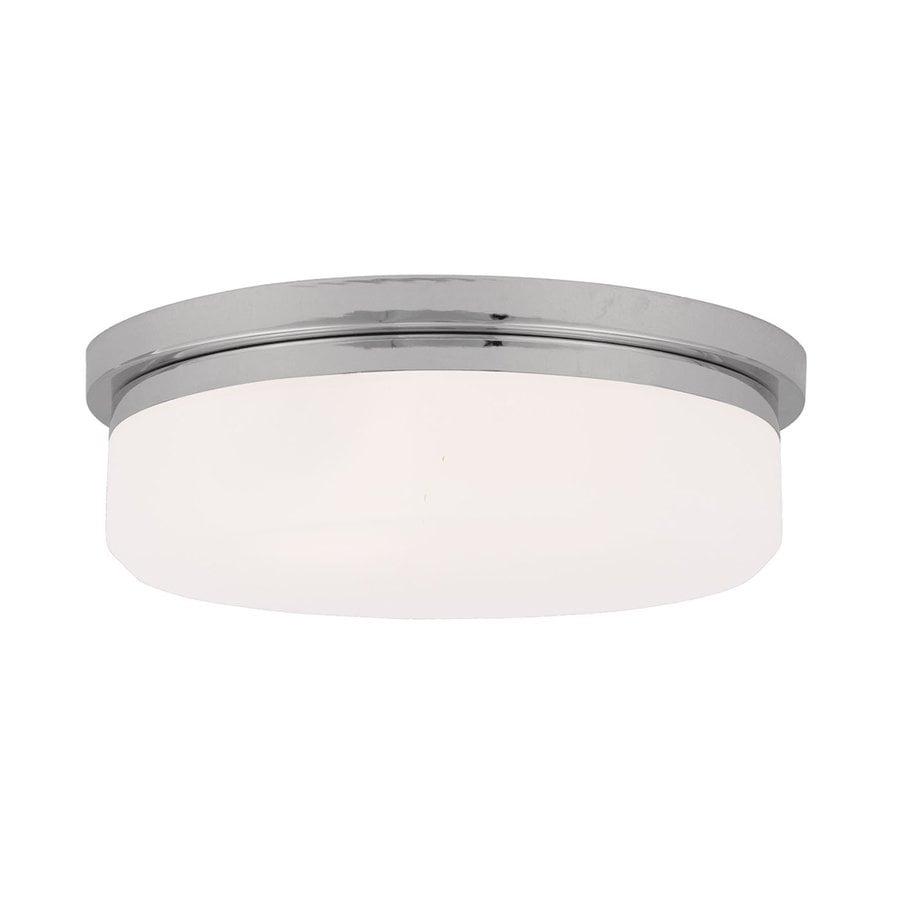 Livex Lighting Stratus 15.5-in W Chrome Ceiling Flush Mount Light